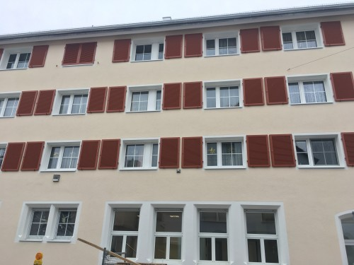 Fensterläden aus Aluminium, Göppingen. Alu 38