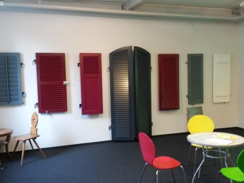 Ausstellung Aluminium-Fensterläden